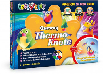 Crazy Clay Magische Silikon Knete, Gummy Thermoknete-Set