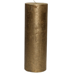 Rustikal Kerze gold Metallic Stumpenkerze 300 x 100 mm gold
